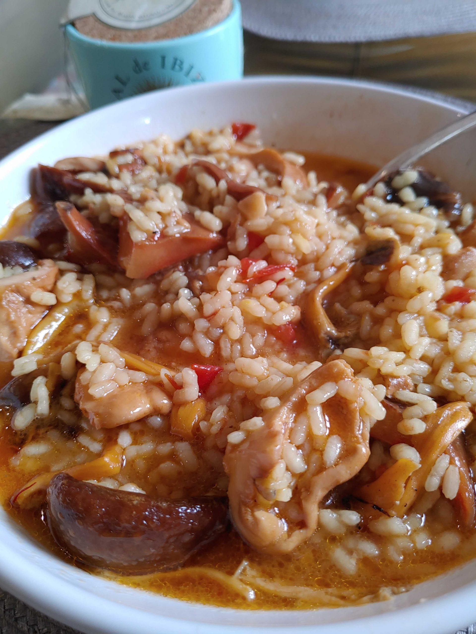 arroz caldoso con setas