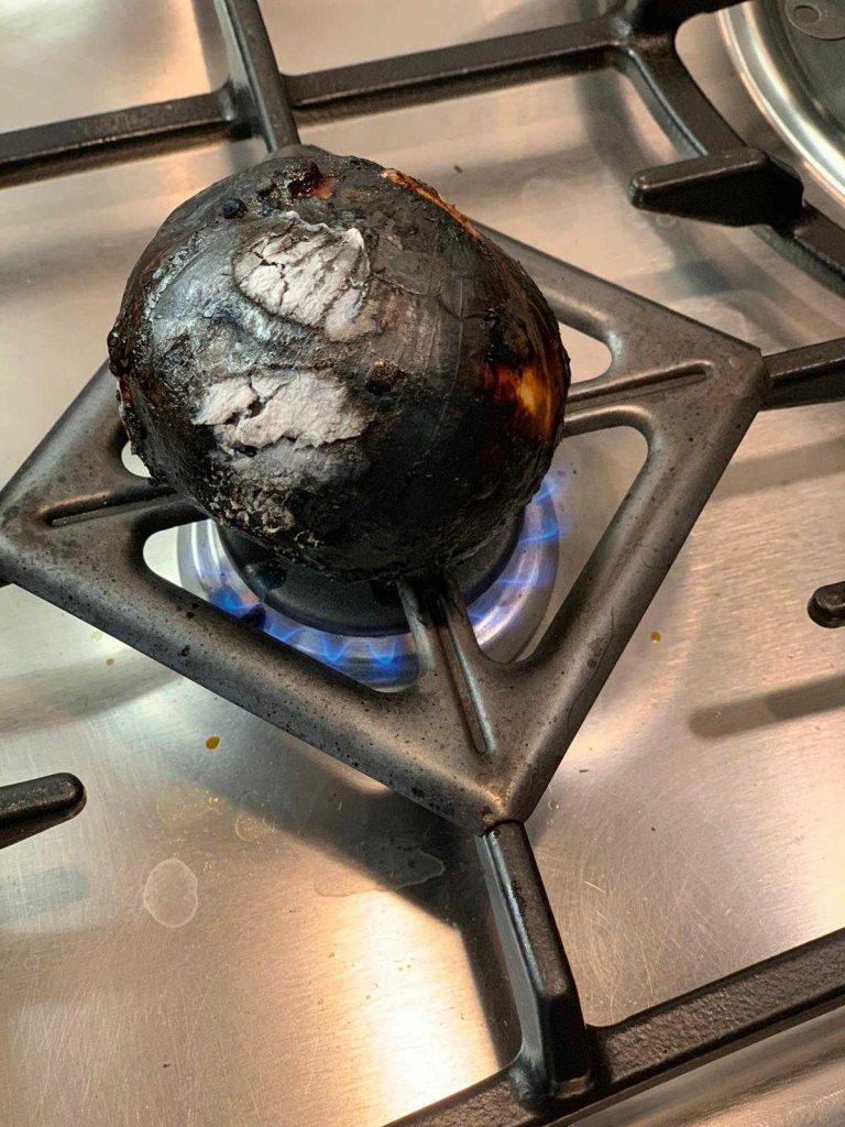 cebolla quemada